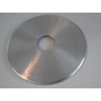 Aluminium disc adapter for glass table top - circle